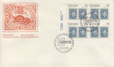 CANADA #754 14¢ JACQUES CARTIER LL PLATE BLOCK FIRST DAY COVER
