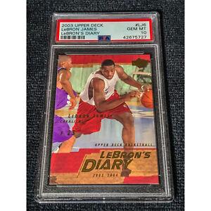 2003-04 Upper Deck LeBron's Diary- Lebron James Rookie PSA 10 GEM RC LJ6 Pop 23