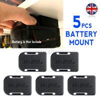 5Pcs Battery Mounts For MAKITA 18V Storage Shelf Rack Stand Holder ABS Black K