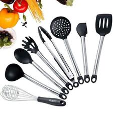 8×Kitchen Aid Nonstick Utensils Set Best Cooking Tools Stainless Steel Silicone