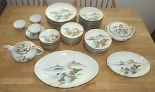 Genuine Kutani 69 Piece Dinner Service - excellent - Teapot, Platter, Plates +