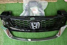 2010-15 JDM Honda Civic FB 9th IX Black Mesh ABS Front Radiator Grille Asian Sty