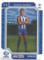 2015 Teamcoach Captain Checklist (C-12) Andrew SWALLOW North Melbourne