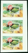 Zaire 1980 Tropical Fish SS imperf proof strip of 3