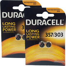 4 x Duracell 357 303 D357 KS76 SR44W Watch Batteries