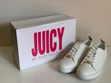 JUICY COUTURE JODY SMITH WHITE GOLD LEATHER ATHLEISURE SNEAKERS SHOES 8.5 $99