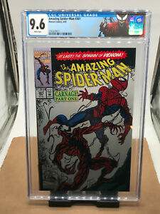 CGC 9.6 White Pages Amazing Spider-man #361 Marvel Comics 4/92  First Carnage!!