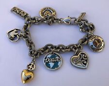 "Brighton 2007 ltd I Dream Peace Charm Bracelet Chunky Link 8.5"""