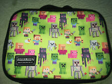 New listing Minecraft School Soft Insulated Lunch Box Tote Kit Bag Boys Kids