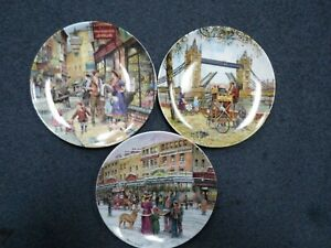 """Davenport Pottery Plates. """"The Knife Grinder"""" and two more"""