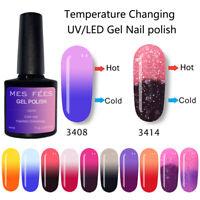 UV Gel Polish Thermal Heat Color Change Ultra-thin Glitter Soak Off  Nail Art