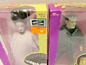 """NEW 12"""" Bride & Frankenstein figures (MISB) Universal Monsters (1998) Hasbro"""