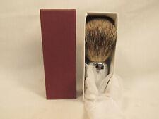 Geo F. Trumper London Warwick Shaving Brush Chrome Metal NEW IN BOX