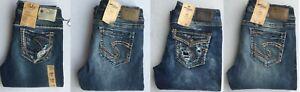 NEW Silver Jeans Women's SUKI Slim BOOT Leg  Mid/High Rise Size W28 90702A