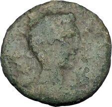 AUGUSTUS 27BC Thessaly Koinon ATHENA Authentic Ancient Roman Coin RARE i47242