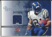 Team  San Diego Chargers. LaDAININ TOMLINSON - 2006 Fleer ULTRA  Achievements Game Used Jersey - Chargers 87fef9696