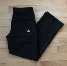 ADIDAS Tech Dress Pant Men's 32 X 32 Black Stretch Flat Front Casual Straight