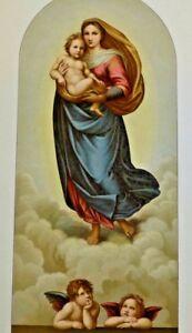 Farbholzschnitt  Madonna Sistina (groß) um 1900