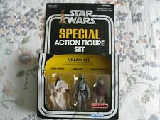 STAR WARS SPECIAL ACTION FIGURE VILLAIN SET - SAND PEOPLE, BOBA, & SNAGGLETOOTH