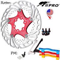 140/160/180/203mm MTB Bike Floating Disc Brake Rotor PM Brake Adapter Caliper
