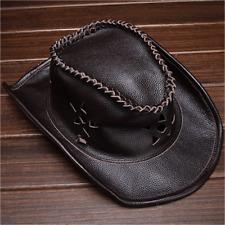 Men's 100% Genuine Leather Vintage Cowboy Hat Cowhide Casual Cap New
