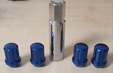 Blue m12 x 1.25 Locking Wheel Nut Set
