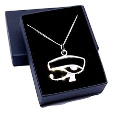 "Eye of Horus 925 Silver Pendant 18"" Necklace Egypt Protection Jewellery Boxed"