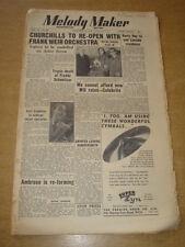 MELODY MAKER 1950 NOVEMBER 25 CHURCHILLS IRVING BERLIN HARRY ROY AMBROSE +