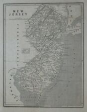 Original 1841 Morse & Breese Cerographic Map NEW JERSEY Canals Wagon Roads