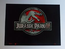 Jurassic Park 3 Advance 2001 Original UK Mini Quad Cinema Poster