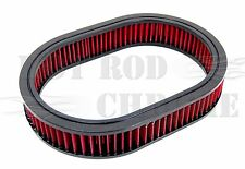 """12"""" Oval Washable Element Air Filter Pre-Oiled Red 2"""" Tall"""