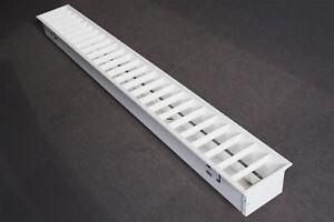 Einbaurasterleuchte 1x58 W Rastervariante Aluminium weiss