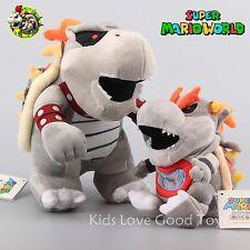 2X Super Mario Dry Bones Bowser Koopa & Baby Bowser JR. Plush Toy Soft Doll 11''