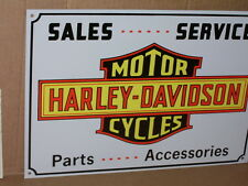 HARLEY-DAVIDSON MOTOR CYCLES -- Shop Sign - SALES - SERVICE - Parts - Accesories
