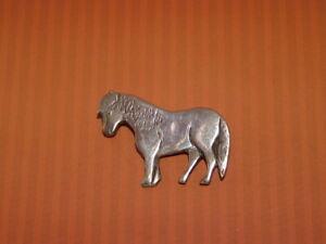 Vintage Silver Horse Brooch ~ Horse, Shetland Pony Pin Brooch