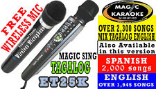 Et25K Pinoy Opm Edition Free Wireless Duet Mic Magic Sing Karaoke Mic