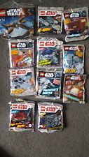 Lot of 11 Limited Edition Star Wars Lego Foil Packs + 1 polybag - BNSIB