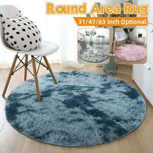 Round Circle Non-slip Floor Small Rug Living Room Bedroom Soft Carpet Shaggy Mat