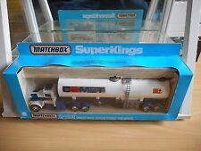 "Matchbox Super Kings Peterbilt Refrigeration Truck ""Iglo"" in White in Box"