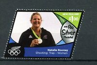 New Zealand 2016 MNH Rio Silver Medal Natalie Rooney Shooting 1v Olympics Stamps