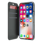 GRIFFIN SURVIVOR CLEAR WALLET CASE COVER FOR IPHONE X/XS - BLACK/CLEAR - TA43989