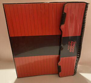 Vintage Mead Trapper Keeper 3 Ring Binder Folder Portfolio Red & Black 29096