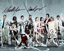 Glee Cast 8 x 10 Autograph Reprint Chris Colfer Matthew Morrison Lea Michele +3