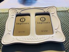 Imprints Porcelain Double Picture Frame For Two 2 1/4� x 3 1/2� Pictures