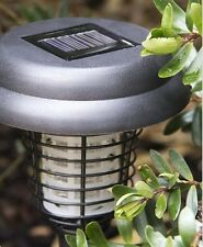 SOLAR POWERED BUG/PEST/MOSQUITO ZAPPER~BRIGHT WHITE LED & UV LIGHT~WIRE FREE~NEW