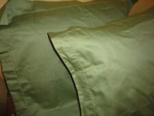 MACY'S CHARTER CLUB GREEN DAMASK SOLID SATEEN (PAIR) EURO PILLOW SHAMS 26 X 26