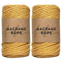 Recycled Makramee Garn 5mm Single Twist 100% Cotton Macrame Yarn Chunky Yarn