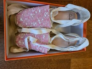 Castaner Carina Nude Espadrill Shoes Size 38 / UK5 Brand New in Box