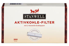 2 x 200 STANWELL Pfeifenfilter 9mm | Pfeife Pipe Aktivkohle Filter