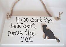 SHABBY CHIC WALL PLAQUE CAT KITTEN PET GIFT BIRTHDAY CHRISTMAS ANIMALS SIGN